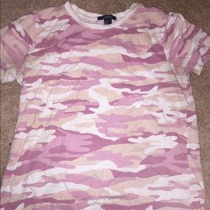 Forever 21 pink camo T-shirt